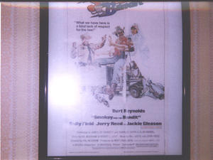 Smokey and the Bandit mini movie poster put out by Topps in 1981