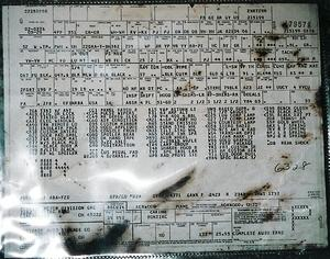 orginal buildsheet found behind rear seat(one of the last 4spds se built)
