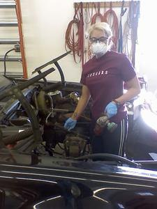 My wife gives engine bay resto a try.  Turns out, not her thing :-)  But she's a hell of a good sport!