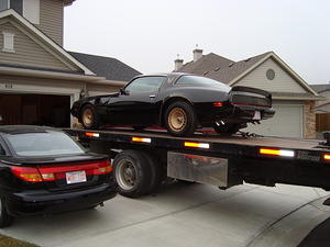 another view of the car starting it's journey to Lincoln NE for restoration