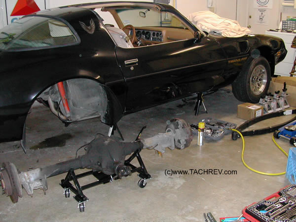 Y-84 Rear End Removal for a leaf-spring change out with new